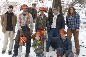 group with chainsaw
