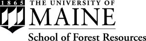 Black and white UMaine School of Forest Resources logo